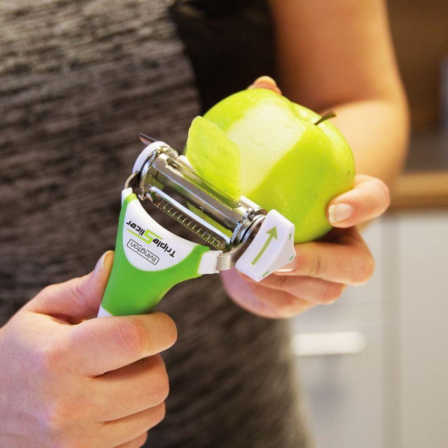 Набор приборов для нарезки овощей и фруктов Triple Slicer 3 в 1