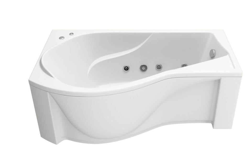 Акриловая ванна BAS  Капри 170x80 с гидромассажем