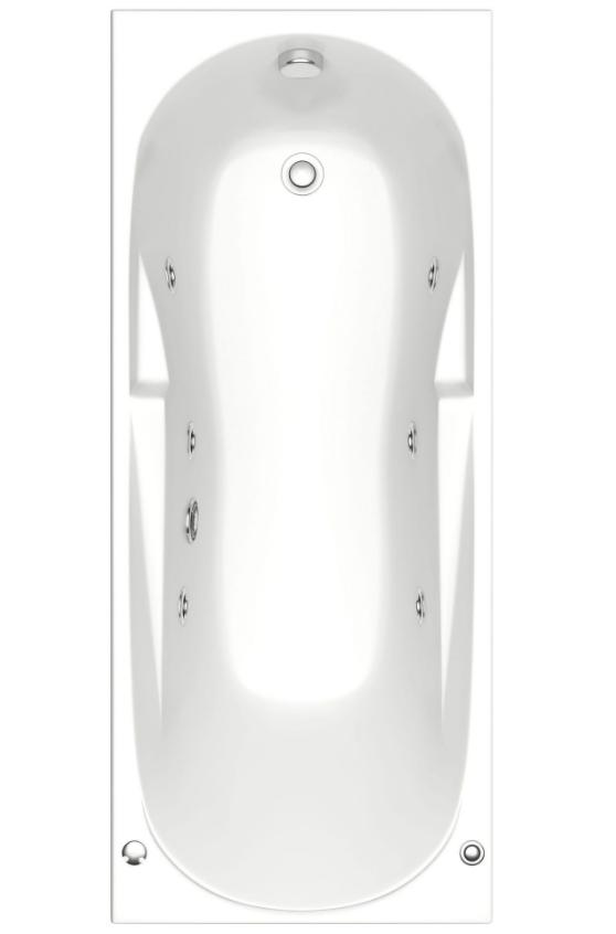 Акриловая ванна BAS  Нептун 170х70 с гидромассажем