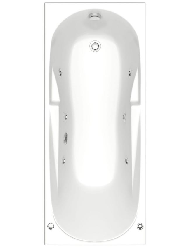 Акриловая ванна BAS  Мальдива 160x70 c гидромассажем