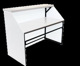 Мобильная барная стойка белого цвета с подсветкой