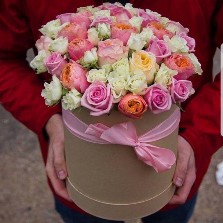 Коробочка Микс Пионовидных роз