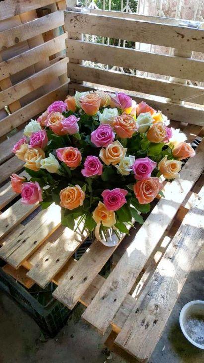 51 роза микс 50см