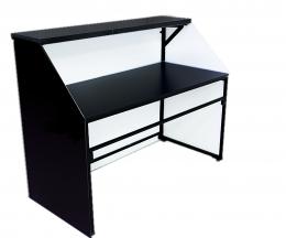 Мобильная барная стойка чёрного цвета с подсветкой