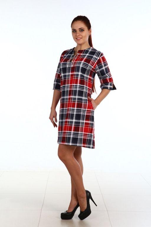 Sale Туника женская Шахматы Efri Т93 БР (D2)
