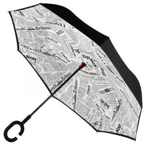Зонт наоборот (Обратный зонт) Белая Газета