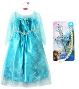 Платье Эльзы костюм с косой Де Люкс Холодное сердце