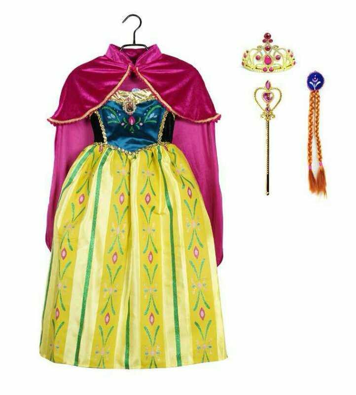 Платье Анны Холодное сердце коронация с аксессуарами рост 134-140