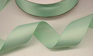 Лента репсовая однотонная 25 мм, длина 25 ярдов, цвет: светло-зеленый