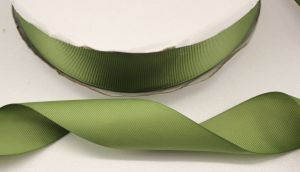 Лента репсовая однотонная 25 мм, длина 25 ярдов, цвет: хаки