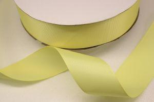 Лента репсовая однотонная 25 мм, длина 25 ярдов, цвет: светло-желтый