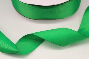 Лента репсовая однотонная 25 мм, длина 25 ярдов, цвет: зеленый