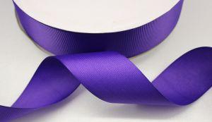 Лента репсовая однотонная 25 мм, длина 25 ярдов, цвет: фиолетовый