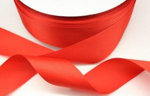 Лента репсовая однотонная 25 мм, длина 25 ярдов, цвет: красный