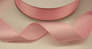 Лента репсовая однотонная 25 мм, длина 25 ярдов, цвет: светло-розовый