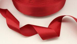 `Лента репсовая однотонная 25 мм, цвет: бордовый