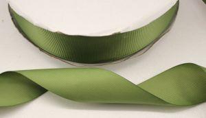 `Лента репсовая однотонная 25 мм, цвет: хаки