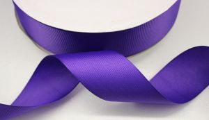 `Лента репсовая однотонная 25 мм, цвет: фиолетовый