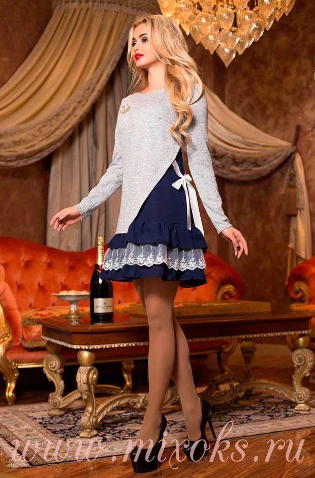 Платье с юбкой кокеткой