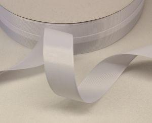Лента репсовая однотонная 15 мм, длина 25 ярдов, цвет: белый