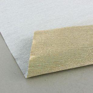 №806 металл Гофр.бумага (светло-золотой металл)