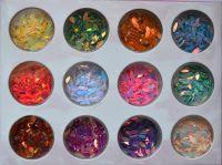 Набор голограммных лепестков для дизайна ногтей (12шт/набор)