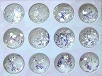 Белые голограммные фигурки в наборе для дизайна ногтей (12шт/набор)