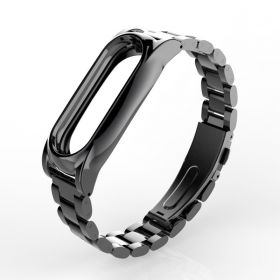 Металлический браслет для Xiaomi Mi Band 2 черный