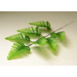 Лист папоротника 7 листьев зеленый