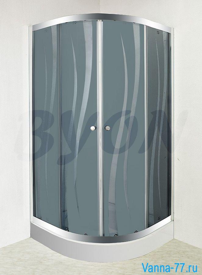 """BYON (802) Душевой уголок с поддоном """"RUNDA"""" 80x80 см"""