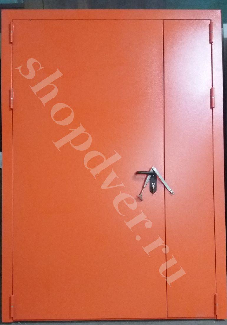 Металлические технические двери  металл с 2-х сторон в порошковом напылении (двупольная)