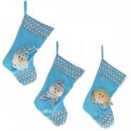 "Носок для подарков ""Санта"", ""Снеговик"", ""Ангел"", 3в., H 50 см (арт. 617124) (11398)"
