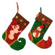 Носок для подарков Санта, Снеговик H 19 см (арт. 55613) (11385)