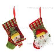 """Носок для подарков """"Дед Мороз, Снеговик"""", L18 W11 H1 см (арт. 228702) (11439)"""