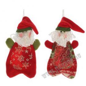 """Мешок для конфет """"Санта"""", Н 23 см, 2 в. / текстильные материалы, ПВХ  06930"""