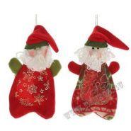 """Мешок для конфет """"Санта"""", Н 23 см, 2 в. / текстильные материалы, ПВХ (арт. 197106) (06930)"""