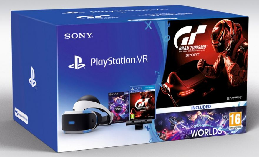 Sony Playstation VR CUH-ZVR1 + Camera V2 + VR Worlds + GT Sports (PS4)