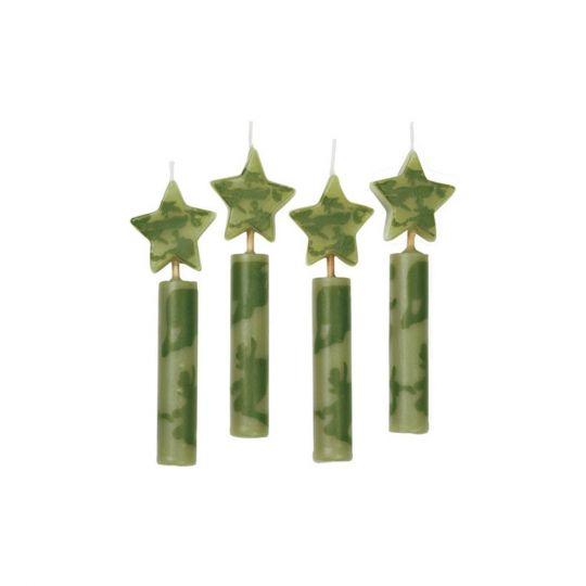 Набор свечей милитари (камуфляж) - 4 шт