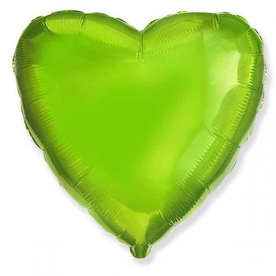 Сердце яблоко (киви, лайм) шар фольгированный с гелием