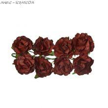 """Розы из бумаги """"Кудрявые - коричневые"""""""