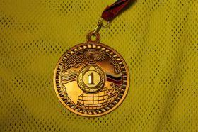 Медаль большая 70 мм 1 место
