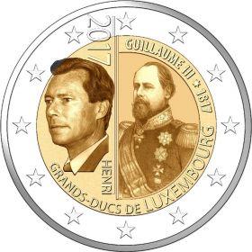 200 лет со дня рождения великого герцога Вильгельма III 2 евро Люксембург 2017