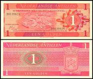 Нидерландские Антиллы - 1 Гульден 1970 UNC