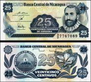 Никарагуа - 25 Сентаво 1991 UNC