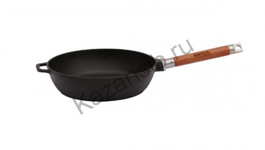 Сковорода чугун 26х6,6