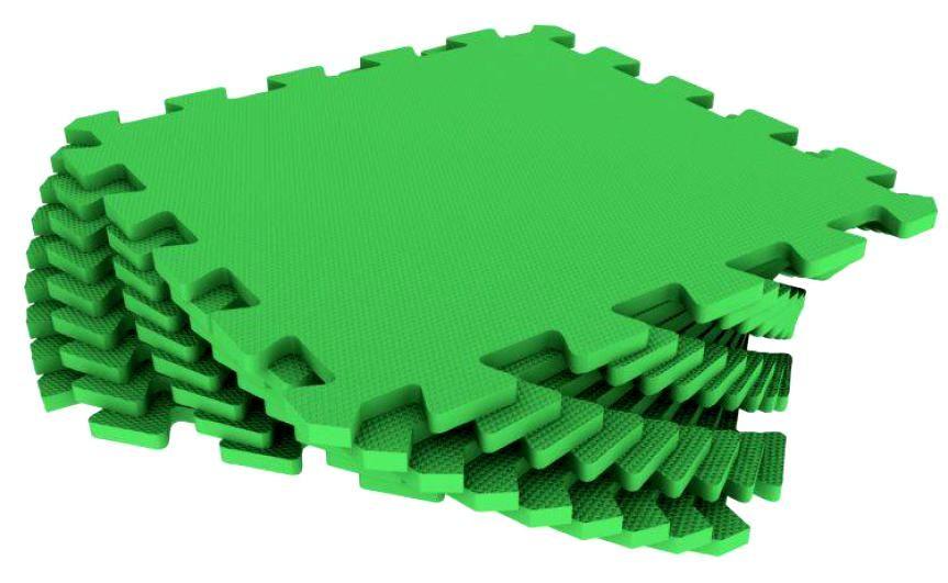 Мягкий пол универсальный 33 x 33 см Зелёный