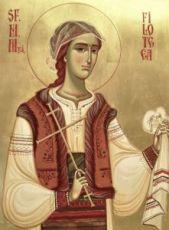 Филофея Румынская (рукописная икона)