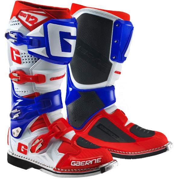 Gaerne - SG-12 Limited Edition мотоботы, бело-сине-красные