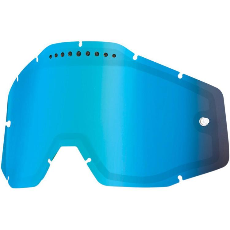 100% - Линза для очков всех моделей Mirror Blue Vented Dual