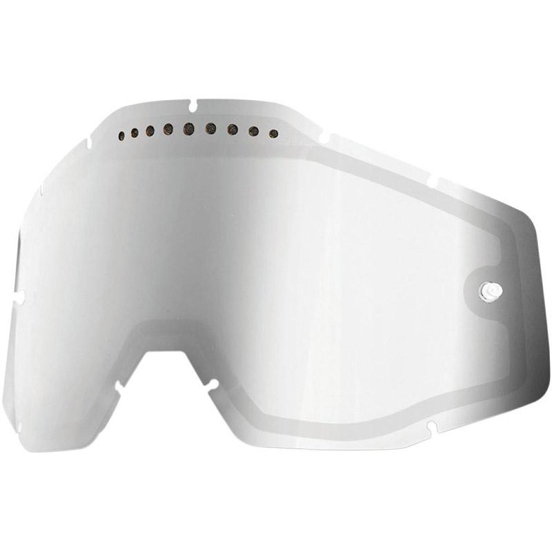 100% - Линза для очков всех моделей Mirror Silver Vented Dual